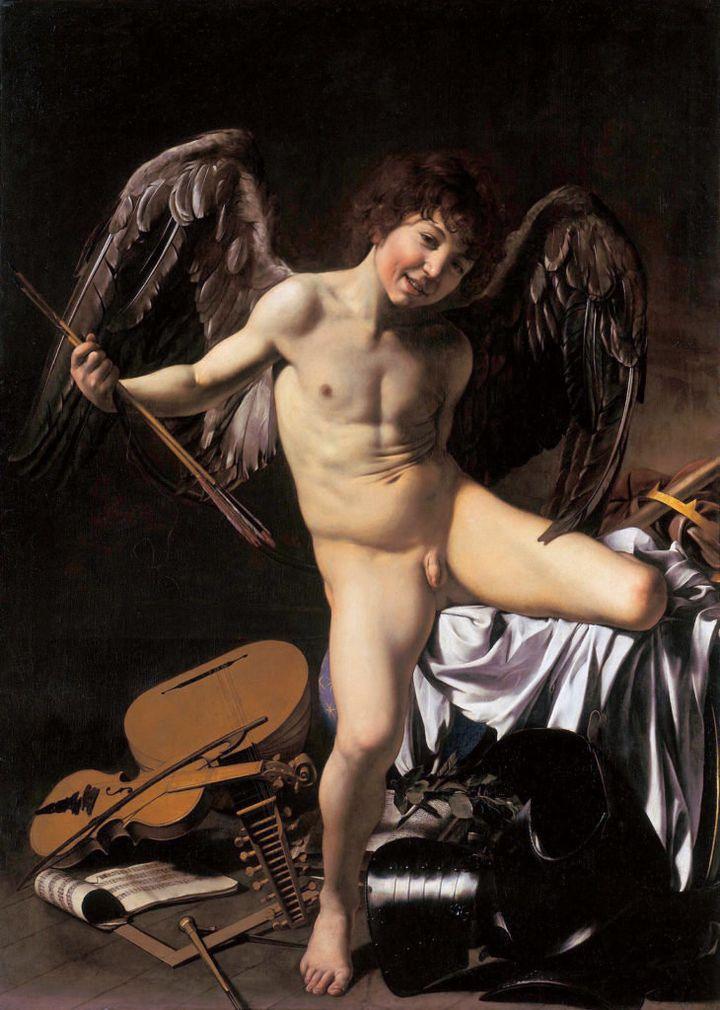 """Caravaggio,""""Amor Vincit Omnia,"""" 1602"""