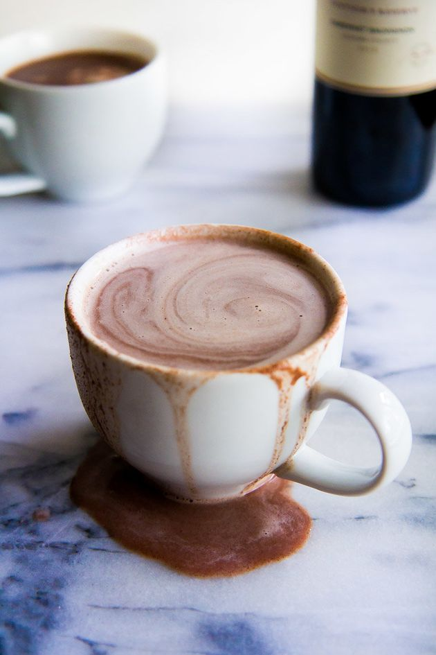 Red wine hot chocolatefrom food blogger