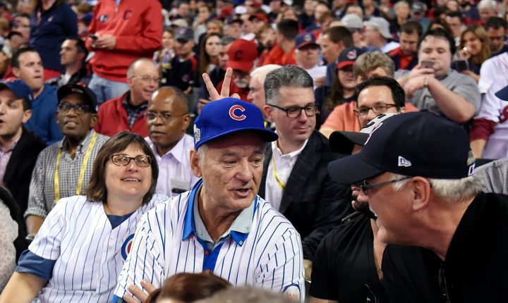 fbb01a5aed4 Actor and comedy great Bill Murray is seen attending Game 6 of the 2016 World  Series