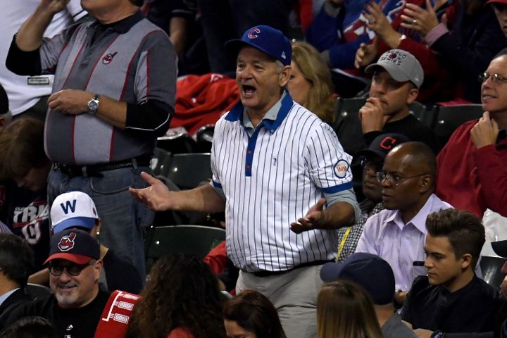 The Illinois-born Cubs fan and comedian has attended all of the games between the Chicaho Cubs and the Cleveland Indians.