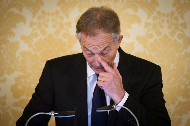 Blair wipes a tear at his post-Chilcot press