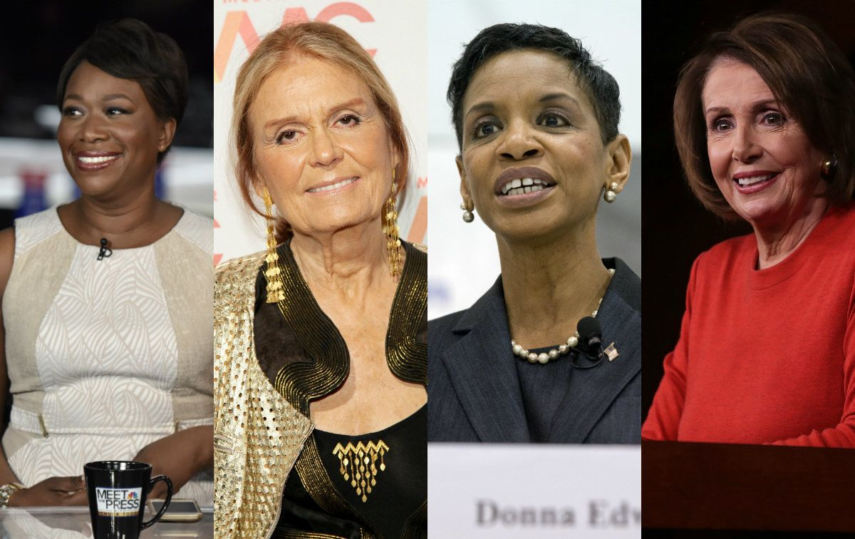 Joy Reid, Gloria Steinem, Donna Edwards and Nancy Pelosi.