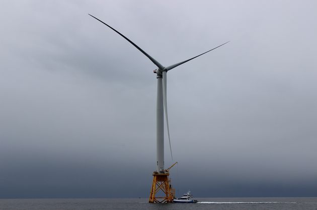 Each of Block Island Wind Farm's turbines towers nearly 600 feet above the surface of the