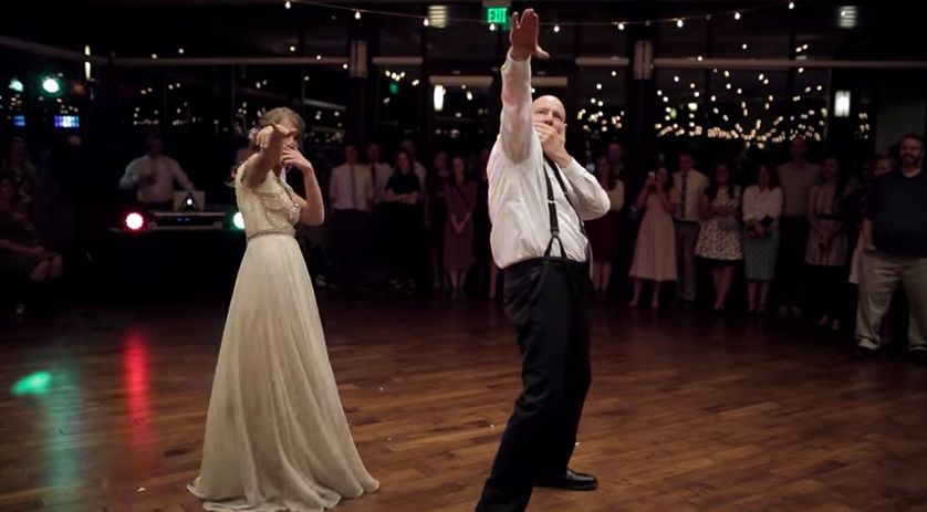 This Father Of The Bride's Dance Moves Are The Joy Trigger We