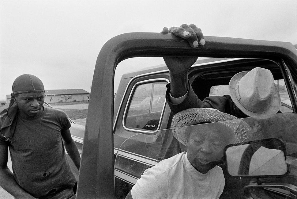 """Eugene Richards, """"Porter Lee and Mr. Will,"""" Hughes, Arkansas, 1986"""