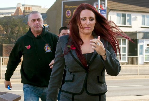 Fransen, arrives at Luton Magistrates'