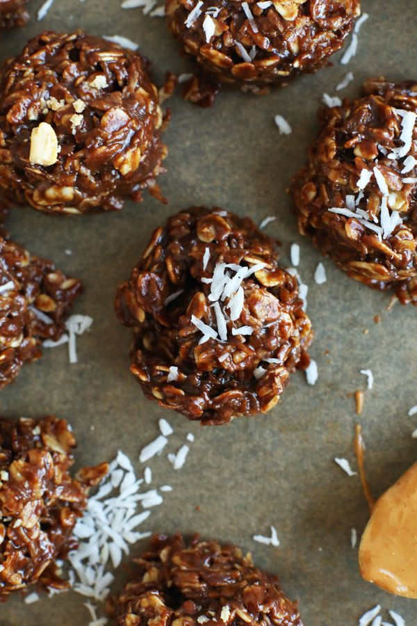 "<strong>Get the <a href=""http://minimalistbaker.com/coconut-no-bake-cookies/"" target=""_blank"">No-Bake Coconut Oat Cookies rec"
