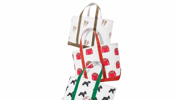 """<strong>Bagging Rights</strong> <br><br>""""I've said it before and I'll say it again: I love a big tote! These preppy canvas ba"""