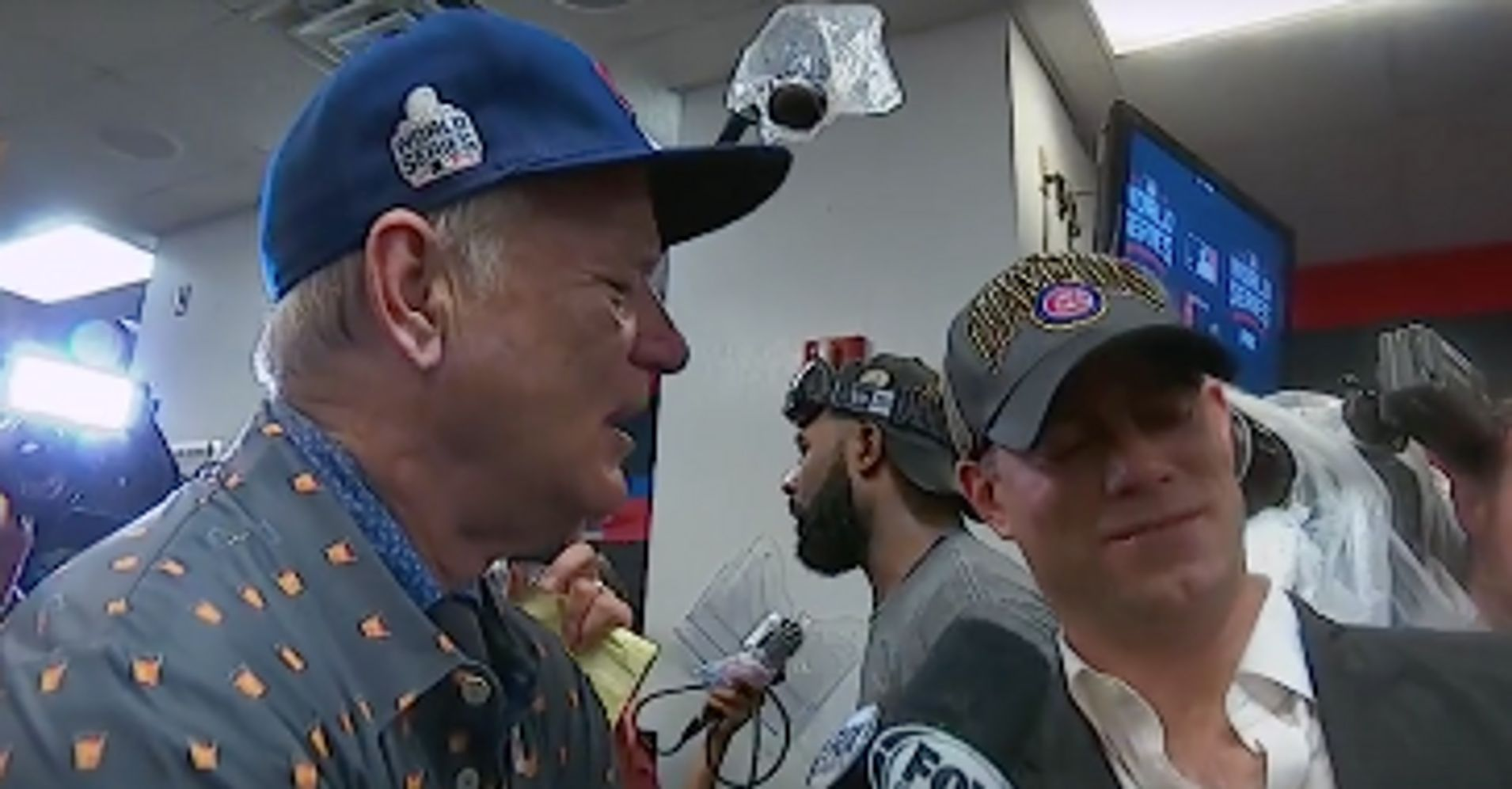 f65615e231e Bill Murray Had The Best Interview With Cubs President Theo Epstein After  The World Series