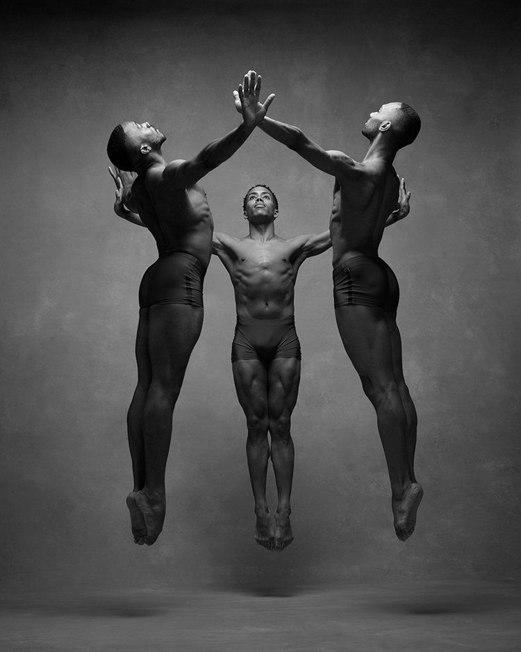 Michael Jackson Jr, Daniel Harder and Sean Aaron Carom of the Alvin Ailey American Dance Theatre.