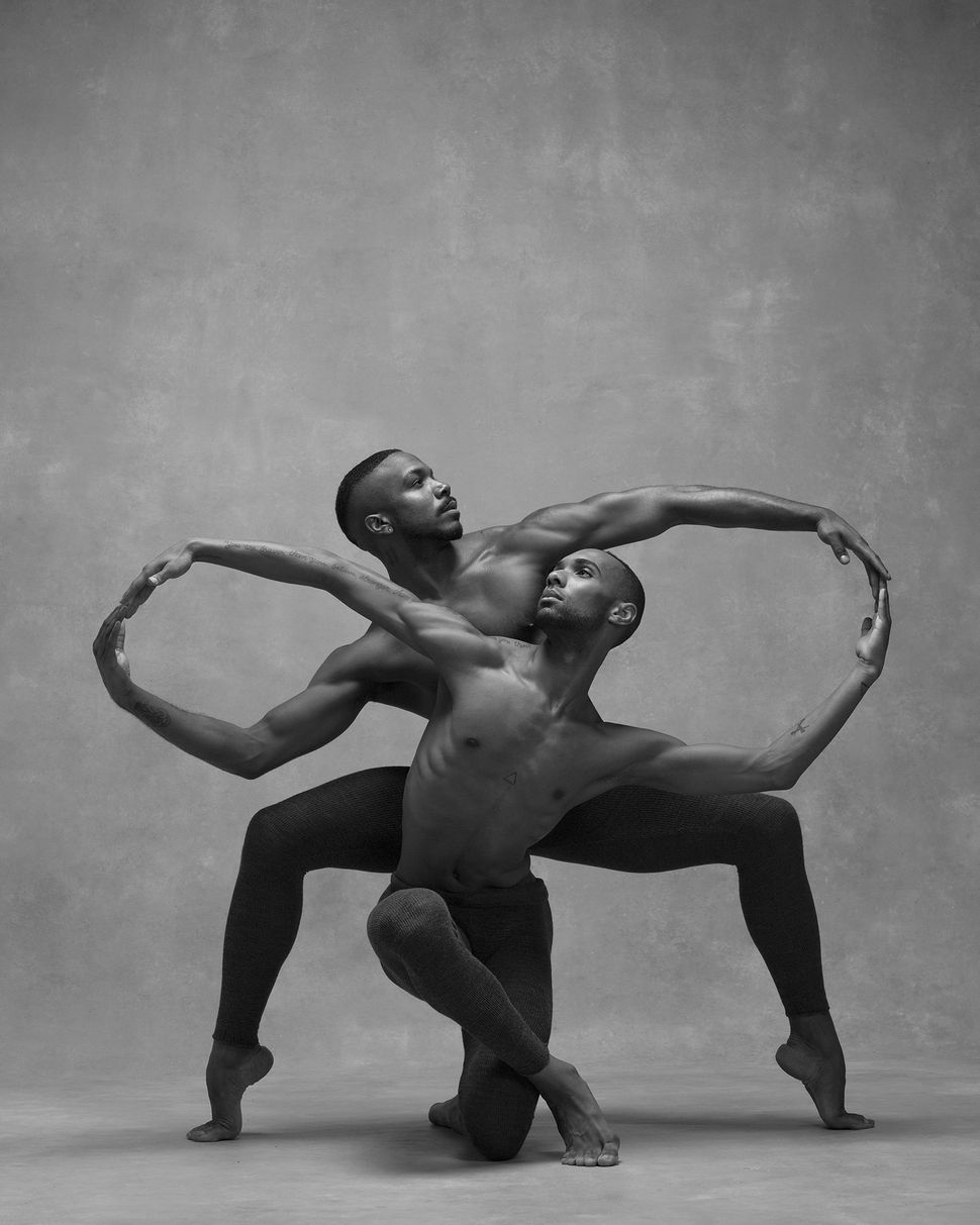 Michael Jackson Jr. and Sean Aaron Carmon of the Alvin Ailey American Dance Theatre.