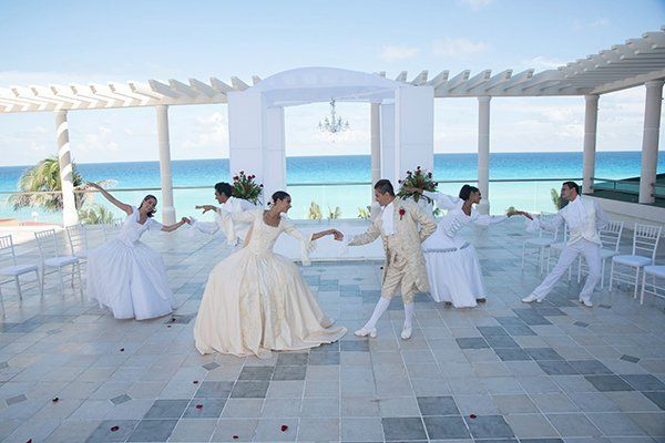 <p><strong>A Film-inspired Wedding at Sandos Cancun Luxury Resort in Cancun, Mexico:</strong> Are you a fan of the 1980s Academy Award-winning film <em>Dangerous Liaisons</em>? Well, this is the wedding package of your dreams: The Dangerous Liaisons wedding package will whisk you and your friends and family away to an 18th century French royal court. Among the hits are enjoying a magical string quartet, a ballet decked out with authentic costumes, and regal lounge areas personalized to your specifications with a menu fit for royalty. (Okay, so maybe the ocean views aren't authentic, but we'll let that one slip).</p>
