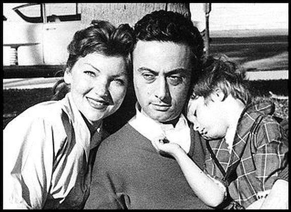 Honey and Lenny Bruce with daughter Kitty.