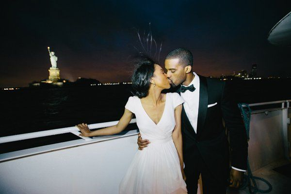 <p><strong>A Yacht Wedding in Manhattan, New York:</strong> Boat aficionados, rejoice! When you say hello to your forever aboard the Atlantica and Manhattan Elite private yachts, you can expect a unique wedding experience unlike any your guests have seen. As your wedding party cruises down the calm and glittering Hudson River, everyone will soak up views of the Statue of Liberty, Brooklyn Bridge, and more standouts of the Big Apple's landscape.</p>