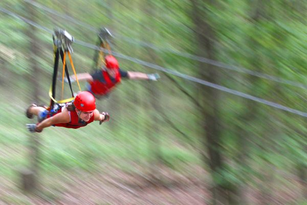 <p><strong>A Zipline Wedding in Hocking Hills, Ohio: </strong>Adrenaline junkies, you won't want to miss out on this chance to say you celebrate your I dos as you soar through the air at Hocking Hills Canopy Tours. First, you'll get hitched at the top of the 85-foot-tall Super Zip, and then you'll cruise at 40-miles per hour through the treetops. Want to tack on more adventure? Try a Segway tour or bundle your zipping with a climb or rappel package. Pro tip: The fall foliage is every bit as gorgeous scenery-wise as you'd imagine – and then some.</p>