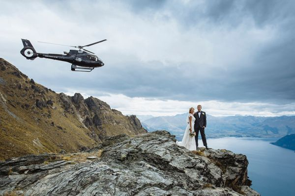 <p><strong>A Cloud Nine Wedding at the Matakauri Lodge in Queenstown, New Zealand: </strong>This far-flung gem of the southern hemisphere can set you up with a private wedding on top of a nearby glacier. You'll be whisked away on a helicopter past glorious mountains and blue-green ice falls before landing on a beautiful glacier. And Queenstown offers no shortage of games for thrill-seekers, ranging from bungee jumping to skydiving. The adventure doesn't have to end after the ceremony, as Queenstown offers additional heart-pounding activities such as bungee jumping, ski diving, heli-skiing and more.</p>