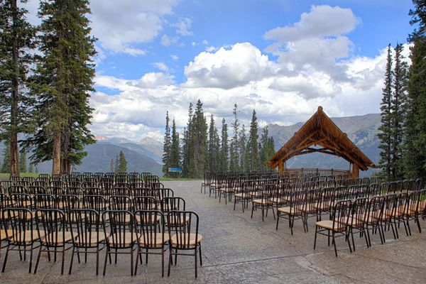 """<p><strong>A Ski Nut's Nuptials at Copper Mountain Resort in Frisco, Colorado: </strong>Drive in, drive out? Pffft. How about ski-in, ski-out? Tie the knot at over 11,000 feet, and then ski down the mountain with your wedding party at Copper Mountain Resort, where you can choose to make your """"reception"""" a post-ceremony chairlift ride and ski with your wedding party and guests. If you prefer, you can skip the sweaty, sporty action while still getting married atop the actual mountain at Solitude Station, peering over the sprawling Tenmile Range. </p>"""