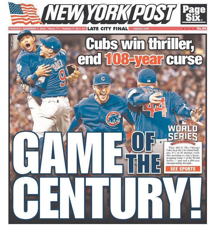 581b5341150000d8045317e1?ops=scalefit_600_noupscale the most memorable newspaper covers from the chicago cubs world