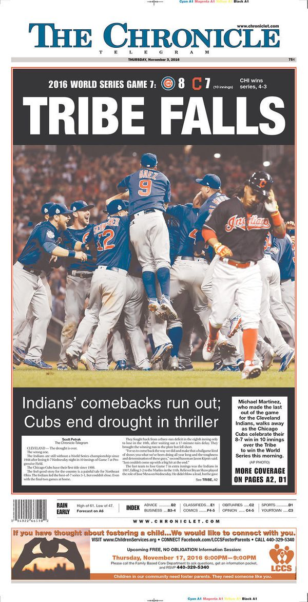 Indians fans can repeat what Cubs fans said more than a century: Maybe next year?