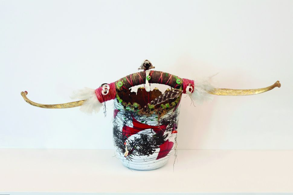 "Laura Donefer, ""Winter Solstice Witch Pot,"" glass and found objects"