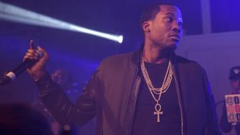 ATLANTA, GA - NOVEMBER 20:  Rapper Meek Mill performs in concert on November 20, 2015 in Atlanta, Georgia. (Photo by Paras Griffin/Getty Images)
