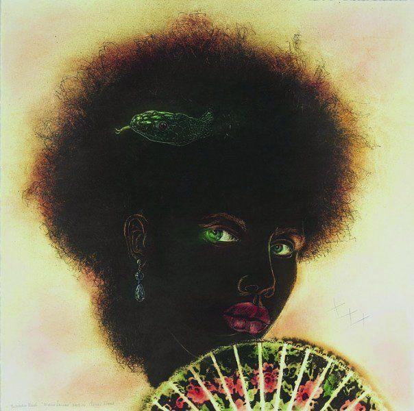 """Renée Stout, """"Marie Laveau,"""" 2009-2010, Archival pigment print with hand-done elements"""