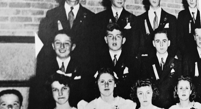 Lenny (pictured left) in junior high.