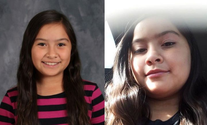 """Kayla Gomez-Orozco was last seen wearing a peach-colored skirt and black T-shirt reading """"Racquet-Jog."""""""