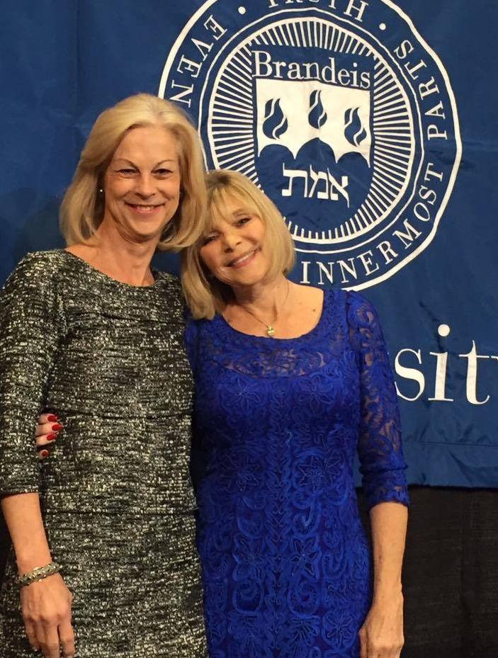 Christie Hefner (left) with Kitty Bruce