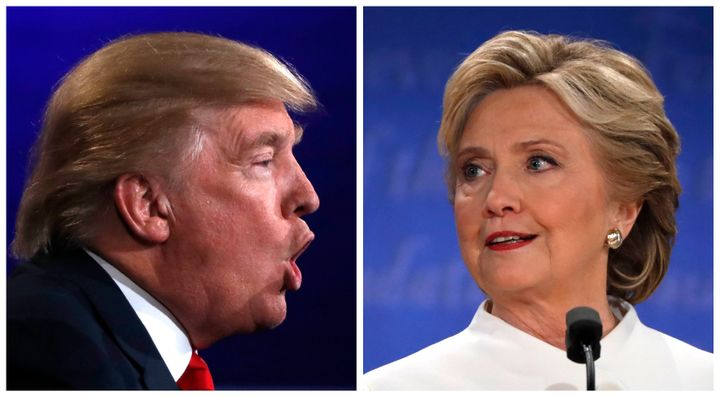 A combination photo shows Republican U.S. presidential nominee Donald Trump (L) and Democratic presidential nominee Hillary C