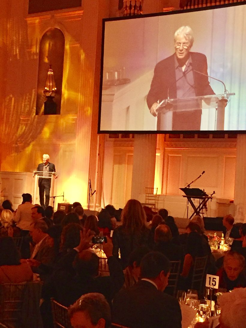 Actor Richard Gere hosts the Garrison Institute's annual Insight + Impact gala in Manhattan Tuesday, November 1, 2016.