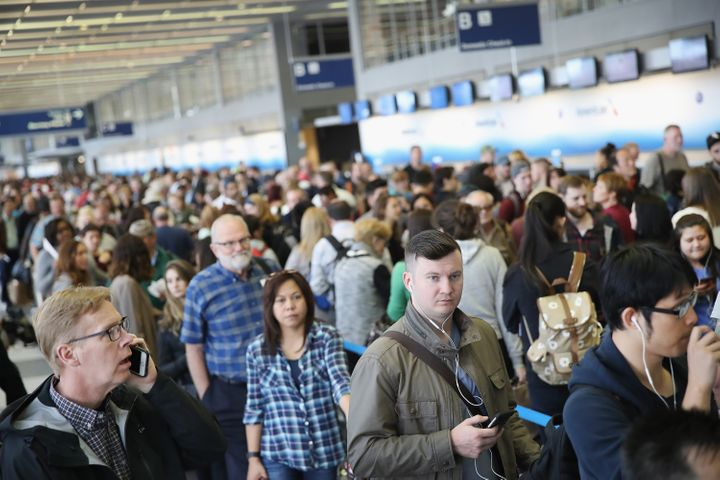 At Chicago's O'Hare Airport, security wait times reached a peak of abouttwo hours this spring.