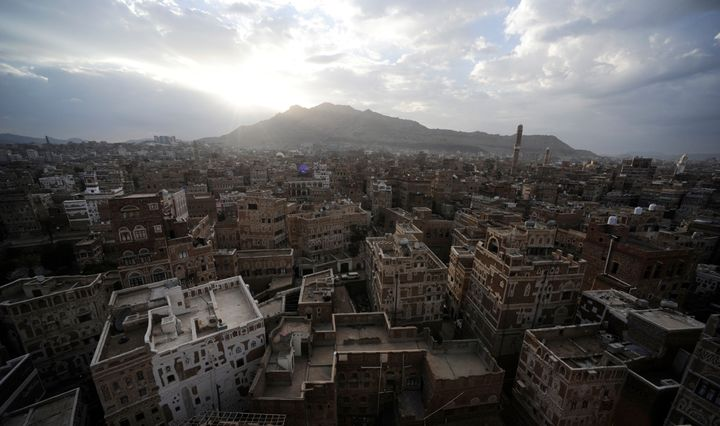 Sunrise in old Sanaa