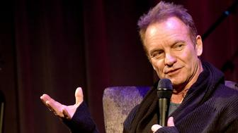 LOS ANGELES, CA - OCTOBER 26:  Singer/songwriter Sting speaks onstage at the GRAMMY Museum on October 26, 2016 in Los Angeles, California.  (Photo by Kevin Winter/Getty Images)