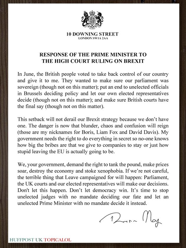 Theresa May Responds To Article 50 High Court
