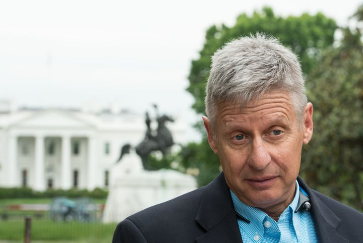 Libertarian presidential nominee Gary Johnson once had record levels of support but is now polling with levels similar t
