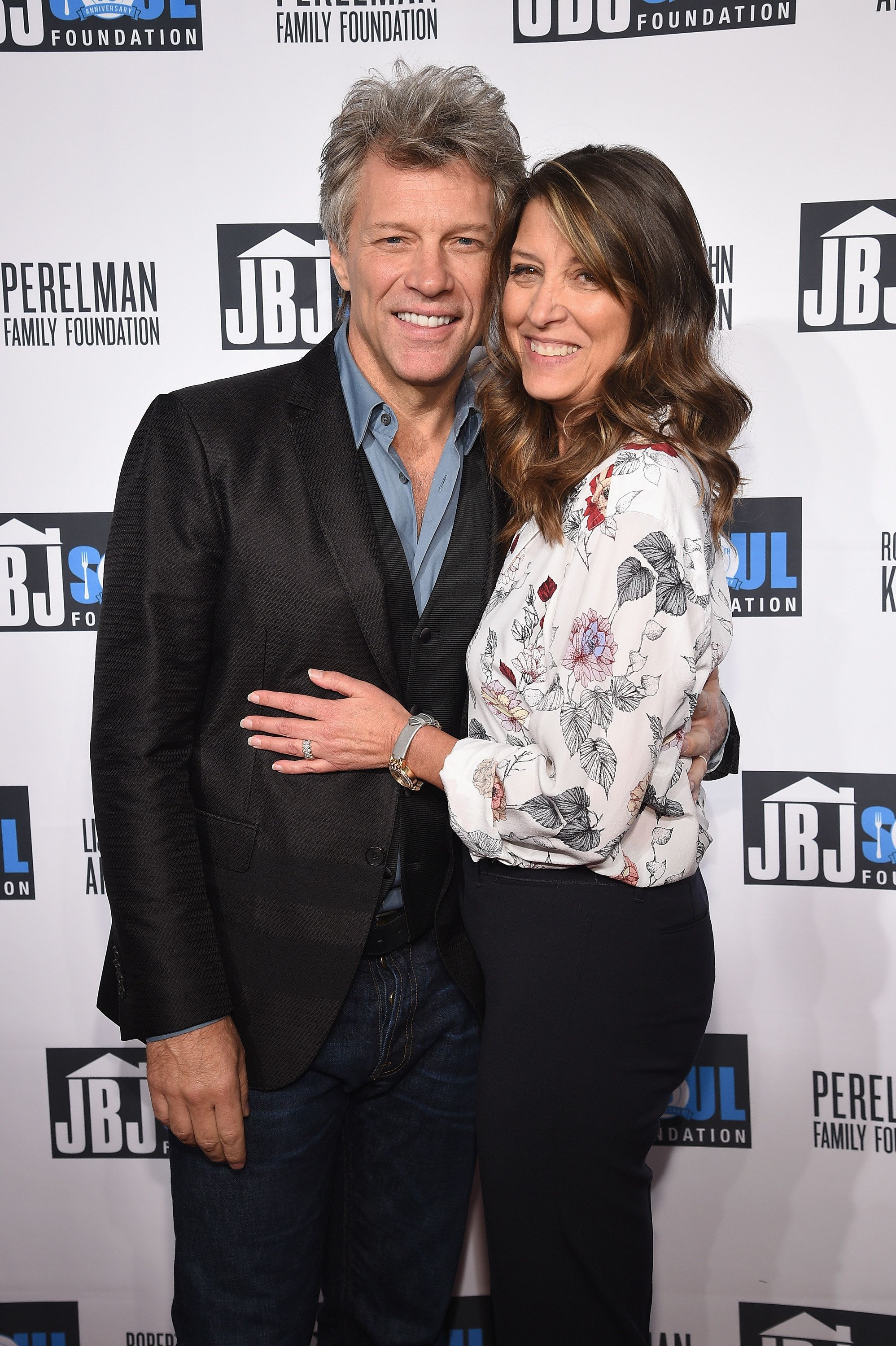 NEW YORK, NY - OCTOBER 06:  Jon Bon Jovi (L) and Dorothea Hurley attend the Jon Bon Jovi Soul Foundation's 10 year anniversary at the Garage on October 6, 2016 in New York City.  (Photo by Dimitrios Kambouris/Getty Images)