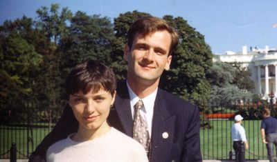 Ukrainian journalist Georgy Gongadze and his wife, Myroslava, pose for a photograph in 1995. Georgy Gongadze was killed in 20