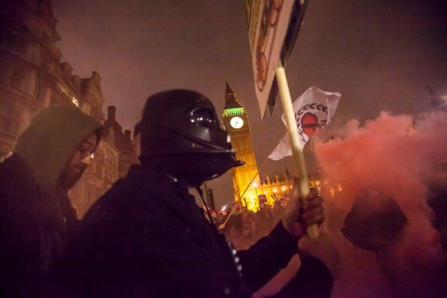 Thousands take part in London's Million Mask March