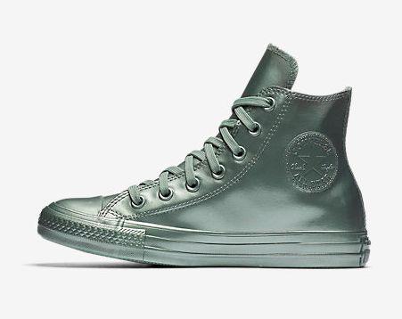 "Chuck Taylor All Star Metallic Rubber High Top (women's), $59.97 at <a href=""http://store.nike.com/us/en_us/pd/converse-chuck-taylor-all-star-metallic-rubber-high-top-womens-shoe/pid-11216071/pgid-11593258"" target=""_blank"">Nike</a>"