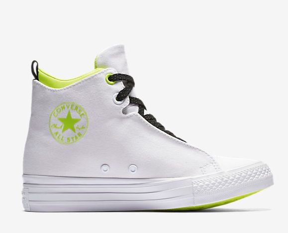 """Chuck Taylor All Star Selene Shield Mid Top Wedge (women's), $59.97 at <a href=""""http://store.nike.com/us/en_us/pd/converse-chuck-taylor-all-star-selene-shield-mid-top-wedge-womens-shoe/pid-11216062/pgid-11593244"""" target=""""_blank"""">Nike</a>"""