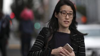 Former Kleiner partner Ellen Pao arrives at San Francisco Superior Court in San Francisco, California March 24, 2015. A landmark Silicon Valley sex bias case that has forced venture capital firm Kleiner Perkins Caufield & Byers to air awkward details about its operations was set to begin closing arguments after four weeks of testimony. That will pave the way for a California jury to deliberate claims by Pao that have helped spark a broad discussion about sexism in the notoriously clubby tech start-up scene. REUTERS/Robert Galbraith