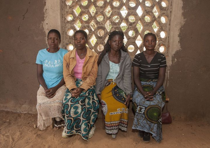 From left: Underage brides Yvone Kambiza, 16, Alinafe Naison, 19, Catherine Julio Funsani, 21, and Katrina Kampingo, 15, visi