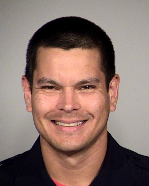 Officer Matthew Luckhurstis accused of playing a horrible trick on a homeless man.