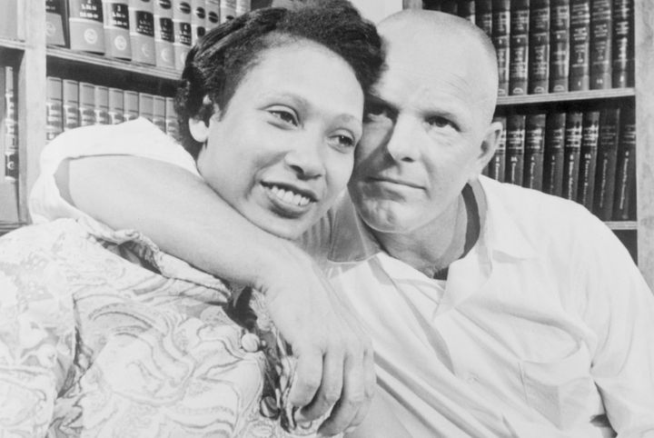 The real Mildred and Richard Loving, after the Supreme Court ruled unanimously that a Virginia law banning marriage betw