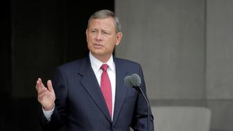 U.S. Supreme Court Chief Justice John Roberts speaks at the dedication of the Smithsonian?s National Museum of African American History and Culture in Washington, U.S., September 24, 2016.      REUTERS/Joshua Roberts/File Photo