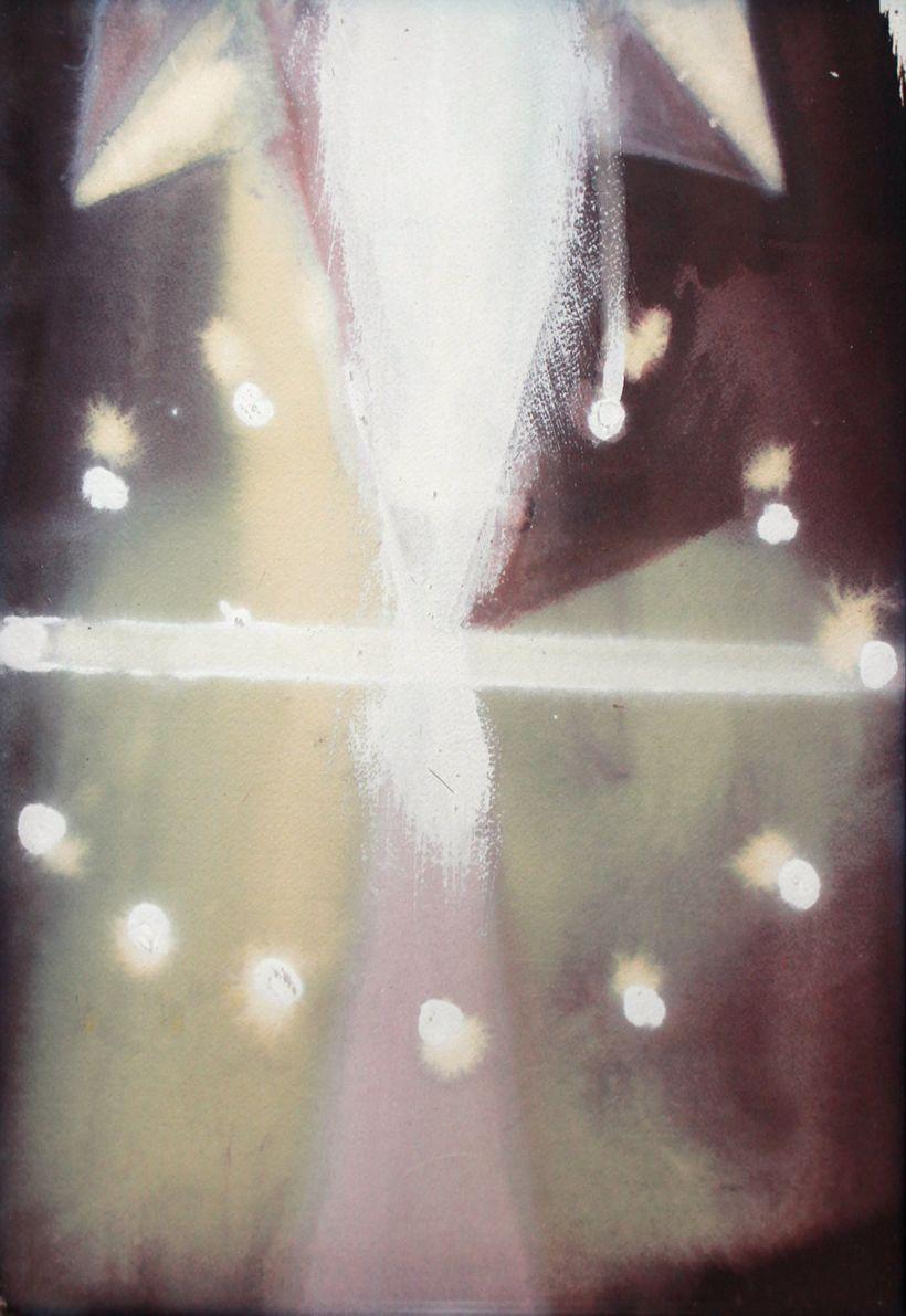 Ross Bleckner. Untitled, 1988. Oil on paper.