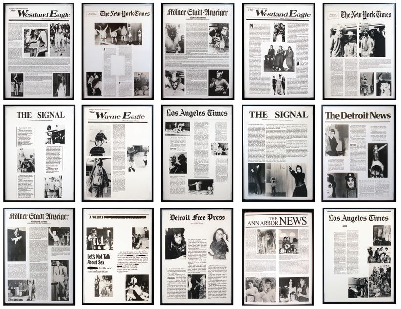 Mike Kelley. Timeless/Authorless, 1995. Series of 15 gelatin silver photographs mounted to museum board. Edition of 5