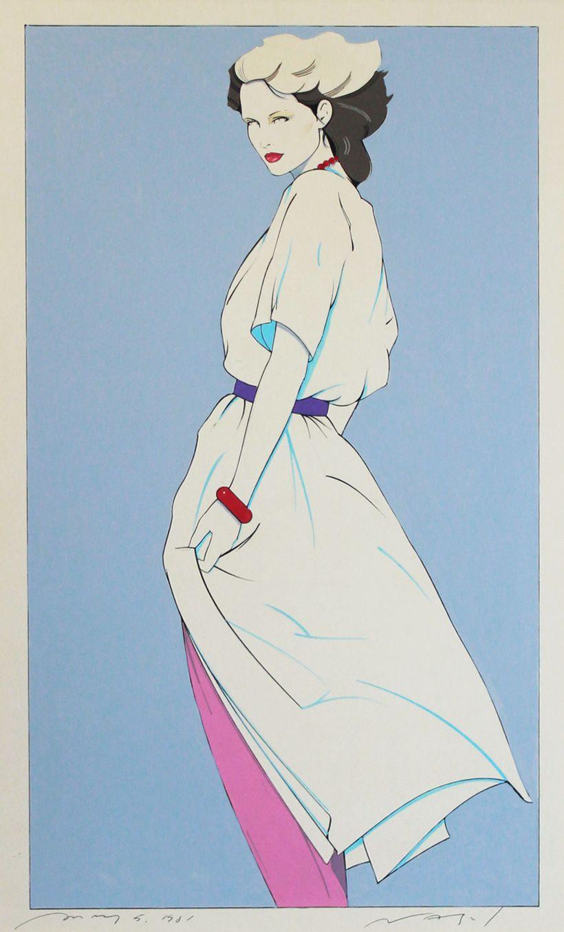 Patrick Nagel. Mixed media on illustration board. 1981