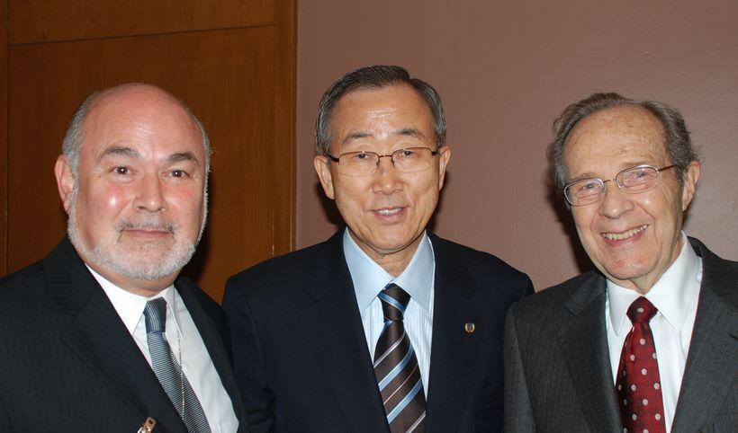 UN Secretary General Ban Ki-moon and Former US Secretary of Defense Dr. William Perry